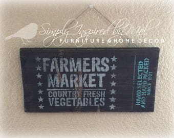 Simple Farmers Market Sign