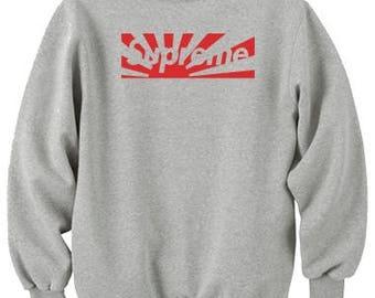 Supreme Inspired Hand Made Unisex Sweatshirt.Perfect Gift Item.