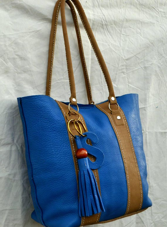 Genuine leather handcrafted ladies tote bag with a matching purse/wallet, handbag,shopping bag.large carryall bag.