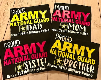 United States Army Family Shirt/Army Dad Shirt/Proud Army Mom/Proud Parent Shirt/Army Sister/Proud Army Brother/Graduation Shirt/Basic