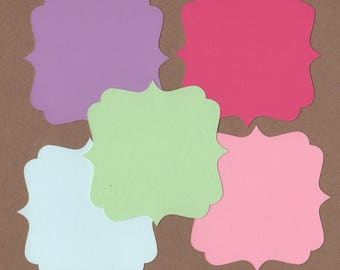10 - 3 1/2 inch Square Die Cuts for Paper Crafts Soda Pop Colors Set #6007