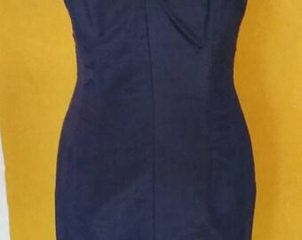 SARAH WHITWORTH 80s silk corset dress