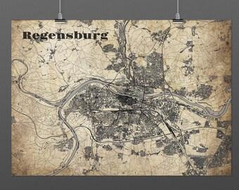 Regensburg DIN A4 / DIN A3 - print - turquoise