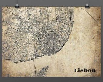 Lisbon din A4/DIN A3-Print-Vintagestyle