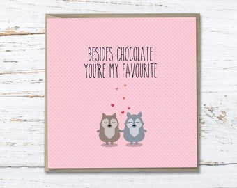 You're my favourite // For him // for her // lovers // anniversary // valentines // Greeting card // pun card
