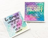 Mermaid scales Bible Verse Card
