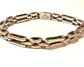 Vintage TAXCO Modern Mexican Sterling Silver Bracelet