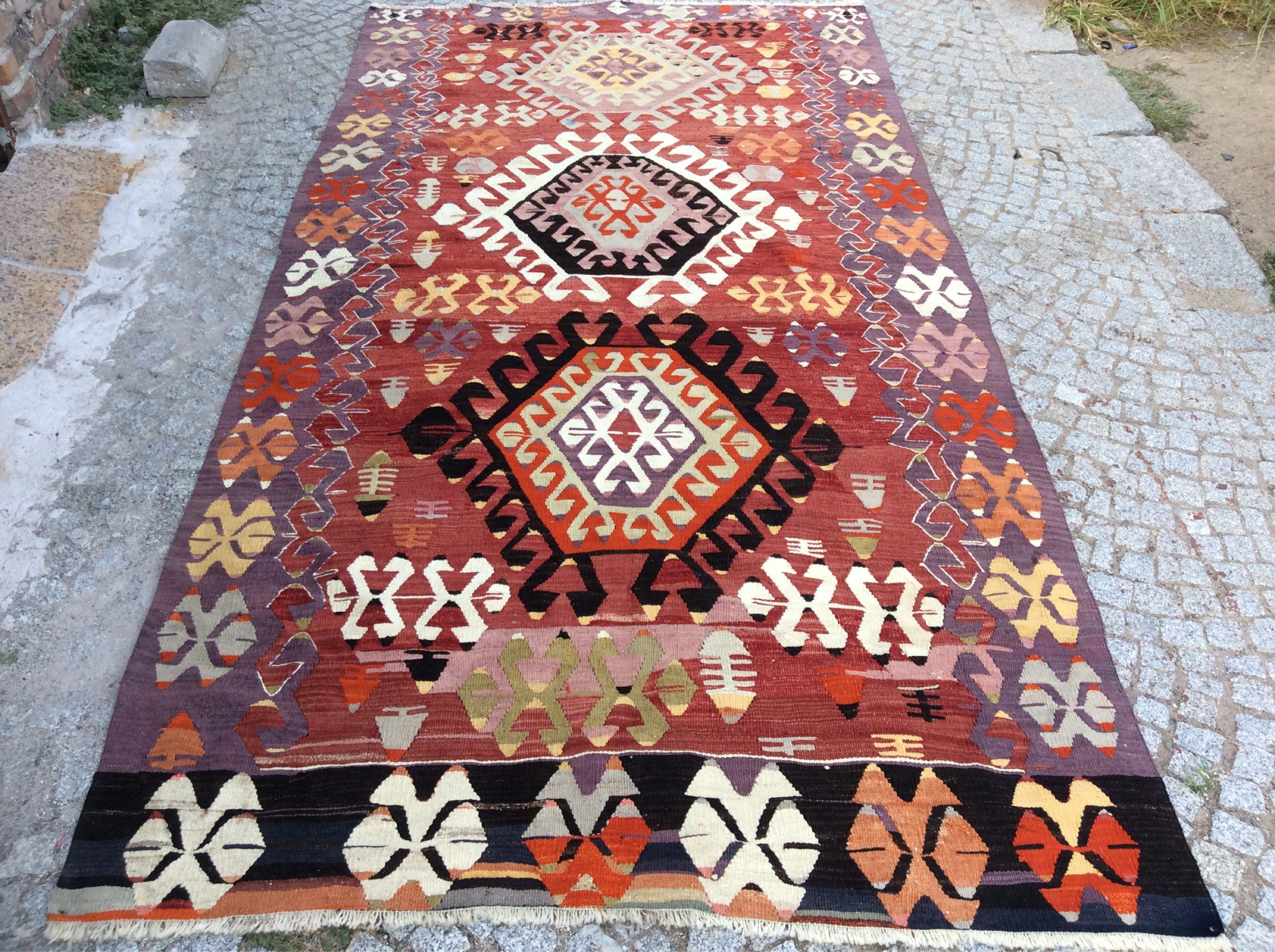 new handmade afghan blue turkish x persian moroccan product kilim rug carpets rugs