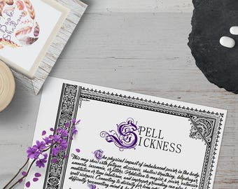 Spell Sickness Information Page - Instant Download Book of Shadows Grimoire
