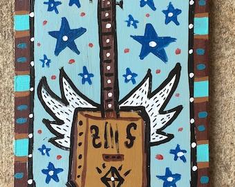 Flying CBG (Cigar Box Guitar)