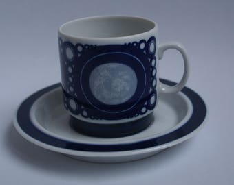 Blue Cup and saucer of Mosa Maastricht