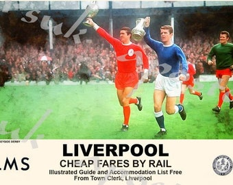 Vintage Style Railway Poster Liverpol Derby A3/A2 Print