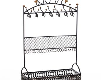 Ikee Design Metal Black Jewelry Display Stand Hanger Organizer with L-O-V-E(SKU# COP3682BK)