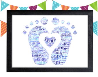 Personalized Gift New Baby Boy Gift For Baby Gifts Christening Gift Wall Prints Wall Art Wall Decor Personalised Gift Wall Art Prints