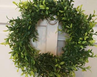 "NEW Item** 11"" Faux Greenery Wreath, fixer upper Wreath, farmhouse wreath, rustic wreath"