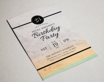 Birthday Party Invitation, Party Invite Card, Birthday Party, Birthday Invitations #11