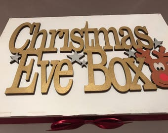 Personalised Christmas Eve box, wooden Christmas Eve box, large Christmas Eve box, christmas box