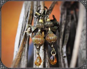 Earth coloured BOHo earrings
