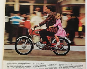 Lot of 3: Honda Ads from 1965, 1966 LOOK, LIFE magazines
