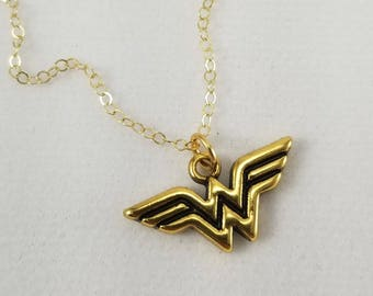 Wonder Woman Necklace, Girl Power Jewelry, Super Hero Jewelry, Wonder Woman Jewelry