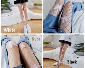 Butterfly Fishnet Stockings