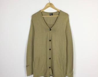 Takeo Kikuchi Sweater Buttoned Cardigan Sweatshirt Medium Sz