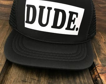 Dude Child Trucker Hats Custom Snap back Mesh