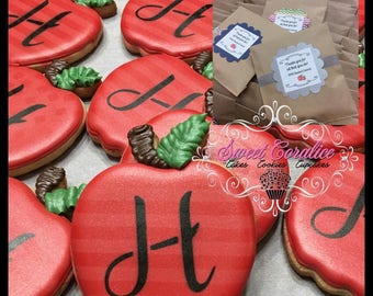 Apple Custom Decorated Cookies
