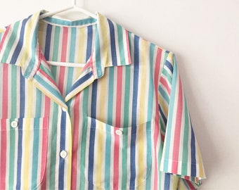 Multicoloured stripped shirt