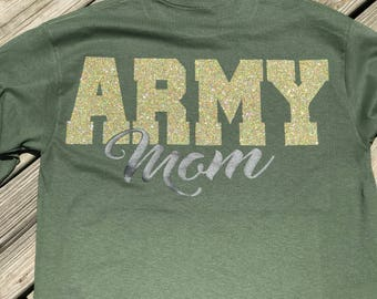 Army Mom Long Sleeve Tee, Military Mom