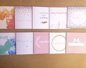 SALE - DISCONTINUED Greeting Card Pack of 10