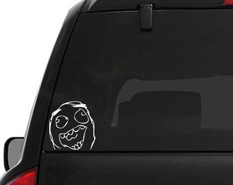 Happy Face Meme Decal
