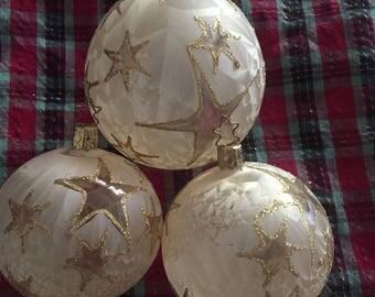 Set of 3 vintage German Inge-Glas ornaments