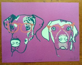 Neon Nerd Dogs Print