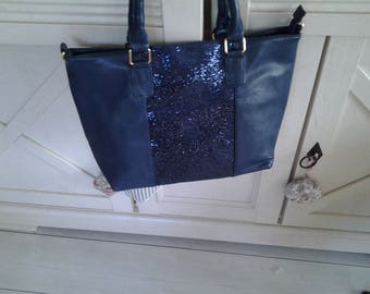Bag has Navy sequined band