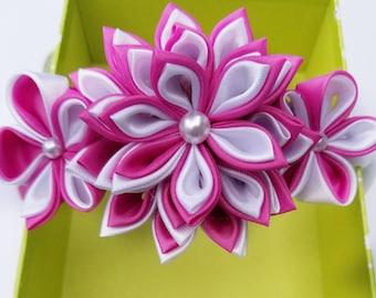 Flower Headband Baby - Pink Flower Headband - Flower Crown - Flower Headband - Pink Headband - Pink Hair Flower -  Toddler Headband