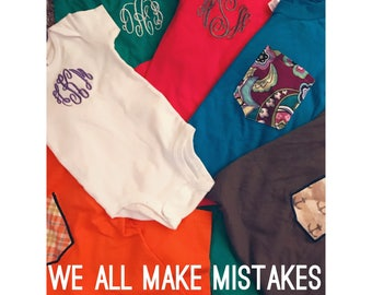 SALE We All Make Mistakes- Items Made By Accident or Not to Standard
