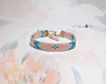 """peach Bracelet"" jewelri handmade"