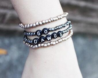 sport bracelet, football bracelet, team bracelet, SEC bracelet, fall bracelet, custom football bracelet, college football bracelet