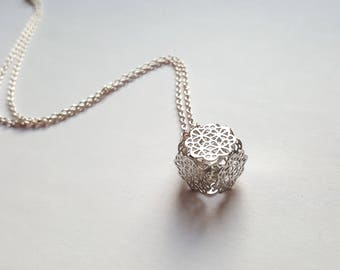 """Crystal cage"" necklace"
