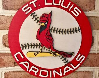 St. Louis Cardinals Man Cave Basement Bedroom 3d sign