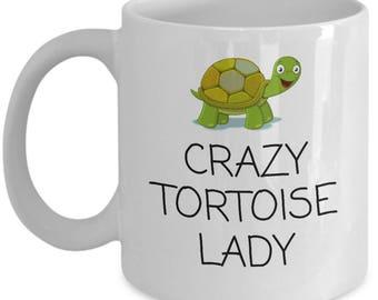 Funny Turtle Mug - Crazy Tortoise Lady - Herpetology Gift - Reptiles, Herping, Turtles