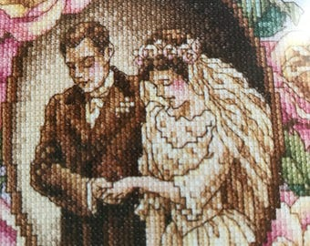 Janlynn To Love and Cherish counted cross stitch kit, wedding cross stitch