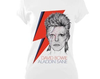 David Bowie Aladdin Sane Tribute Brand New Womens T-Shirt Unique Gift