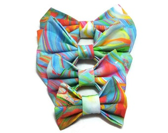 rainbow DOG wedding bow tie cat ring bearer outfit human for kids adult matched accessories FREE GIFT