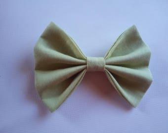 Pistachio linen DOGbowtie for doggy summer outfit owner matched