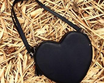 Heart shaped crossbody bag