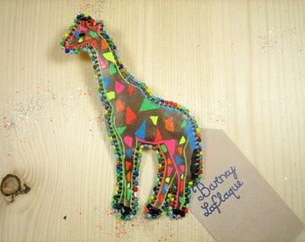 Large giraffe brooch Arabian nights
