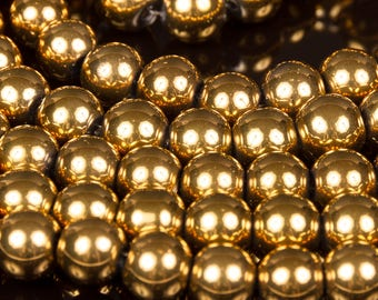 1 row of 40 gold electroplate glass beads