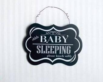 Shhh Baby Sleeping Sign